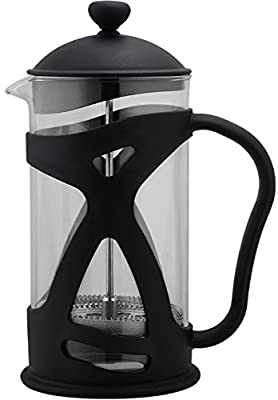 Utopia Kitchen 34 Oz French Coffee Press (3-piece Set in Black) - Durable Coffee, Espresso and Tea Maker with Triple Filters, Stainless Steel Plunger and Heat Resistant Glass by Utopia Kitchen