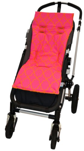Tivoli Couture Luxury Memory Foam Stroller Liner, Morrocan Lattice Pink