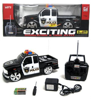 Police Ford F-250 Lights and Music RTR Electric RC Truck