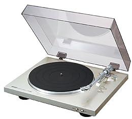 Denon デノン アナログ レコードプレーヤー  フォノイコライザー付 フルオート カートリッジ付属 プレミアムシルバー DP-300FSP