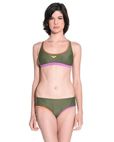 Arena Bikini Sporty Top [Blu/Multicolore]