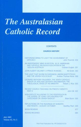 Australasian Catholic Record