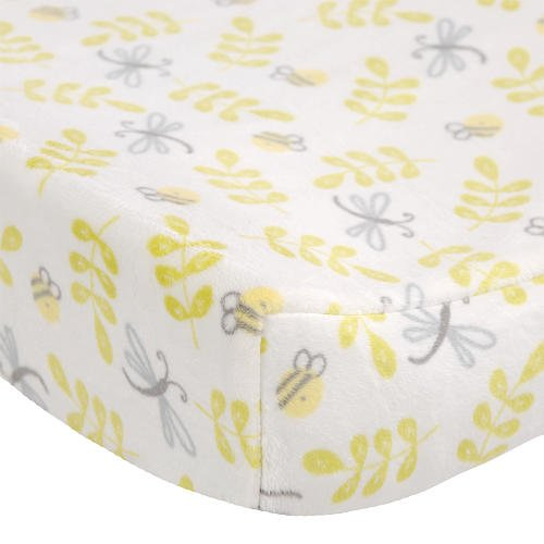 Carter's Bumble Collection Velour Changing Pad Cover