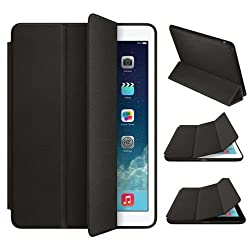 Cellbell Premium Leather Flip Smart Case For Apple iPad Air 2 - Smart case ( Black )