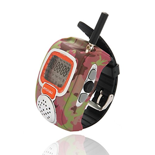 2 Pcs Portable Digital Freetalker Walkie Talkie Two 2-Way Radio Wrist 008 Couple Watch Interphone For Children Couples Securitors Out Triping(Camouflage)