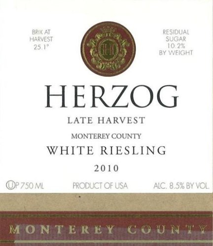 2010 Herzog Monterey County Late Harvest White Riesling 750 Ml