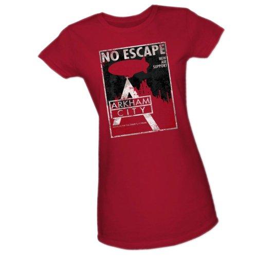 No Escape -- Batman Arkham City Crop Sleeve Fitted Juniors T-Shirt