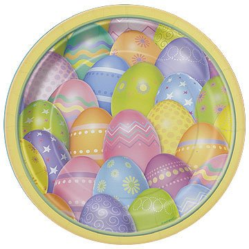 Easter Dazzle Eggs Dinner Paper Plates - 1