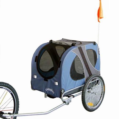 doggyhut large dog pet bicycle trailer in blue 10117 02. Black Bedroom Furniture Sets. Home Design Ideas