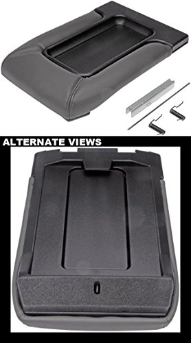 APDTY 035922 Center Console Compartment Lid / Leather Armrest Replacement Kit - Dark Gray / Pewter Color For 2001-2006 Escalade, Avalanche, Silverado, Sierra, Suburban, Tahoe, Yukon (Replaces 19127364) (04 Gmc Sierra Console compare prices)