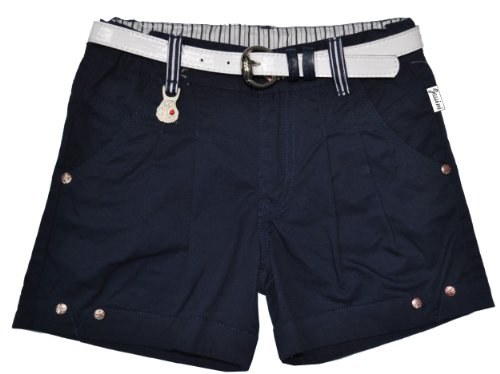 Girl's short woven pants with belt