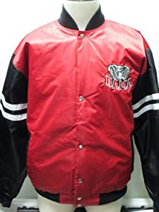 Alabama Crimson Tide Nylon Satin Jacket(red black) L by G-III Sports