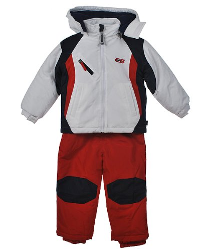 "CB Sports ""Slope King"" 2-Piece Snowsuit (Sizes 2T - 4T) - white, 3t"
