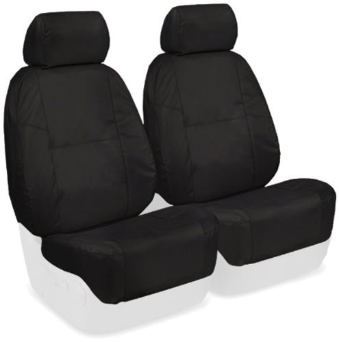 Coverking Custom Fit Front 50/50 Bucket Seat Cover For Select Honda Accord Models - Ballistic (Black)