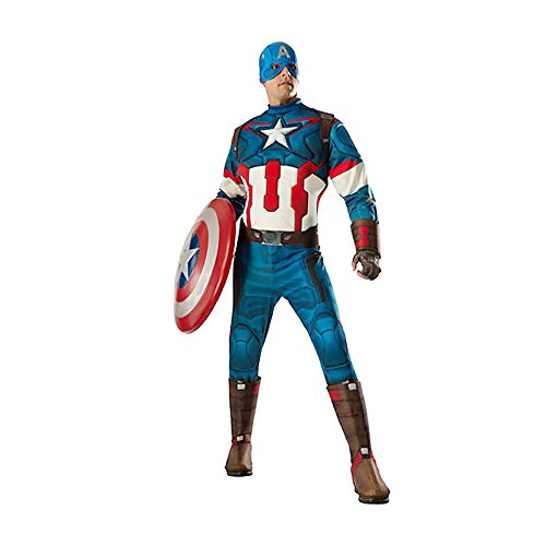 Shindigz Halloween Party Deluxe Captian America Adult Costume