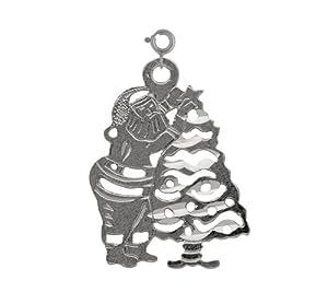 Clevereve's 14K White Gold Charm Christmas 0.7 - Gram(s)