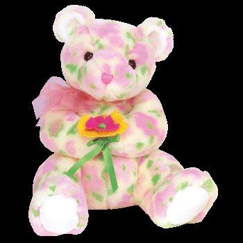 BLOOM the Pink Flowered Teddy Bear - Ty Beanie