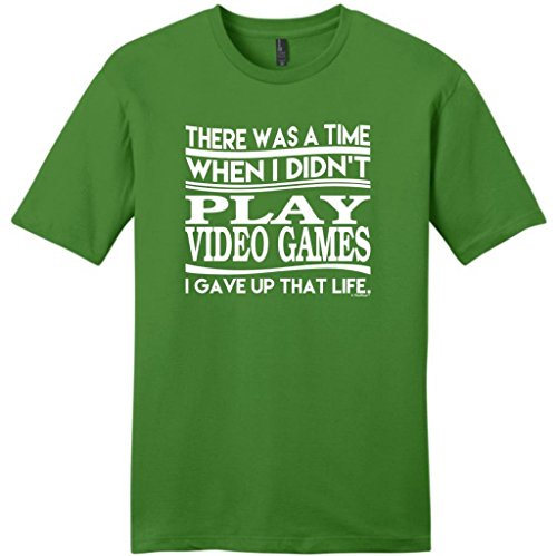 Was Time When Didn'T Play Video Games Gave Up That Life Young Mens T-Shirt Xx-Large Kiwi Green