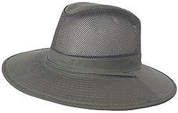 Solarweave Safari 50+ SPF Sun Hat Dorfman Pacific CoolMax Fabric Hiking Tilly (MEDIUM = 7 - 7 1/8 = 22 - 22 3/8 inches = 56 - 57cm, Olive)