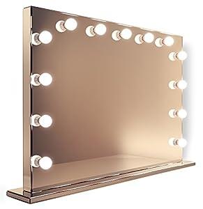 Miroir style miroir de maquillage loge hollywood th atre for Miroir loge de star