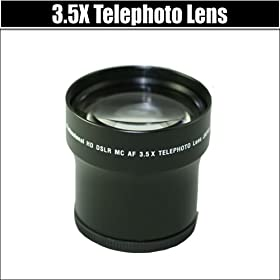 PrO HD 3.5x Telephoto Digital Conversion Lens FoR THE NIKON D40 D40X D60 DIGITAL SLR CAMERAS.THIS LENS WILL ATTACH DIRECTLY TO THE FOLLOWING NIKON LENSES 18-55mm, 55-200mm, 50mm. KIT ALSO INCLUDES LENS CLEANING KIT AND LCD SCREEN PROTECTORS ++MORE !!