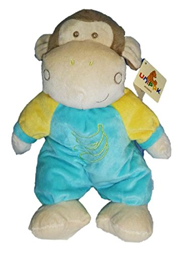 12'' Plush Bell Rattle Stuffed Monkey