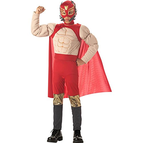 Boy's Mexican Luchadore Wrestler Costume (Size: Medium 8-10)