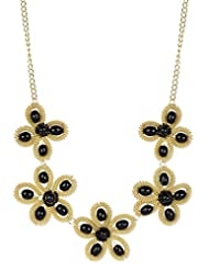 Ambitione Gold Black Metal Alloy Necklace For Women