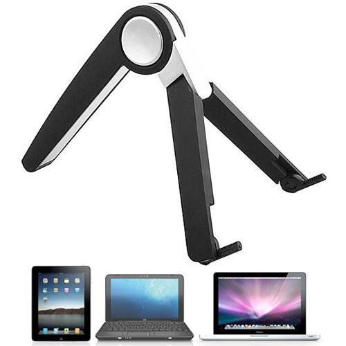 Foldable Stand, Holder, Cradle for iPad, iPad 2, Notebook, Laptop, Netbook, Tablet PC etc