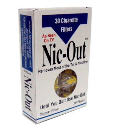 Nic-Out Filters For Cigarette Smokers Personal Healthcare / Health Care nicorette coated gum 2mg 100 pieces fresh mint personal healthcare health care
