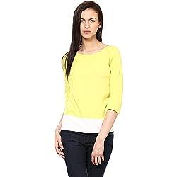 Harpa Women's Body Blouse Shirt (GR2173-Yellow_Large)