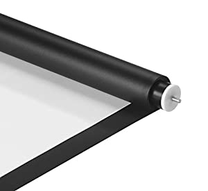 VonHaus Projection Screen Fabric/Material/Cloth, Matte White With Black Border 66