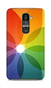AMEZ designer printed 3d premium high quality back case cover for LG G2 (translucent flower abstract)