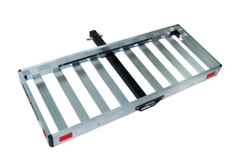Tricam ACC-1F Hitch Mounted Aluminum Cargo Carrier, 500-Pound Capacity, 50-Inch by 20-Inch Platform