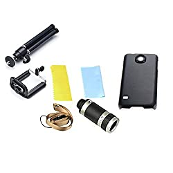 SAMSUNG S4 TELESCOPE 8X LENS WITH BACK CASE/COVER + MOBILE TRIPOD