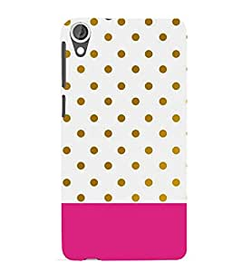 PINK WHITE AND GREEN POLKA DOT PATTERN 3D Hard Polycarbonate Designer Back Case Cover for HTC Desire 820::HTC Desire 820Q::HTC Desire 820S