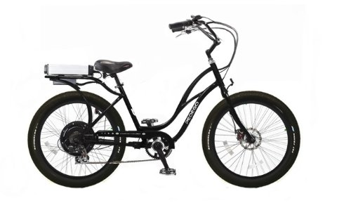 Pedego Interceptor Step-Through Cruiser Black Tire/Seat Package: Black Balloon