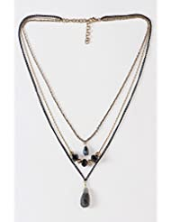 The Office Walk Multi Strand Chain Necklace With Stone
