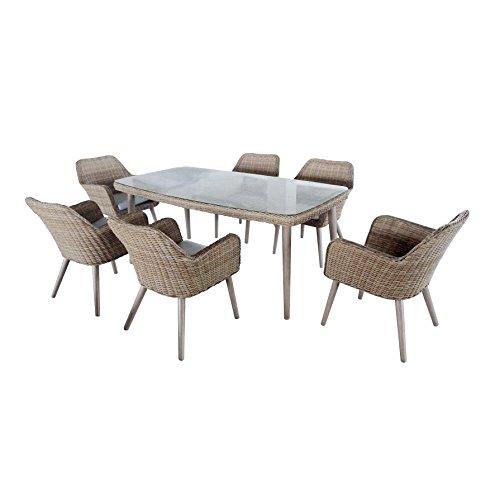 greemotion-Esstischgruppe-Mallorca13-teilig-Essgruppen-Set-aus-beigem-Polyethylengeflecht-ideal-fr-6-Personen-inkl-Tisch-und-6-Sesseln-mit-Sitzkissen-natrliches-Polyrattan-Set-fr-Drinnen-und-Drauen-Gl