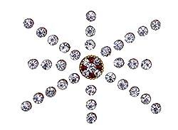 Sunaina Premium Collection White Stone Bindis for Women [SPC553]
