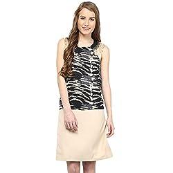 RARE Multi Georgette Printed Short Dress For Women