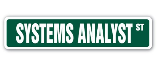 SYSTEMS ANALYST Street Sign computer wiz IT information technology