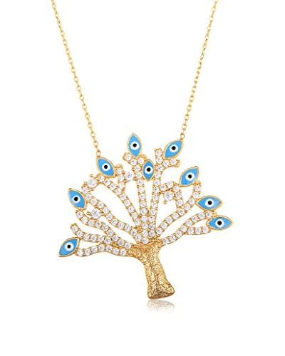 Bliss 18K Gold-Plated Swarovski Elements Tree of Life Necklace