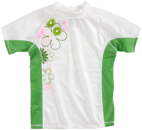 Kanu Surf Girls 7-16 Petal Pop Short Sleeve Rashguard