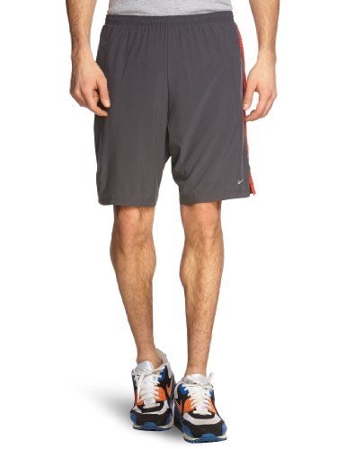 NIKE Herren kurze Sporthose 9 zoll Stretch Woven Running Shorts, anthracite/team orange/reflective silv, M, 451285