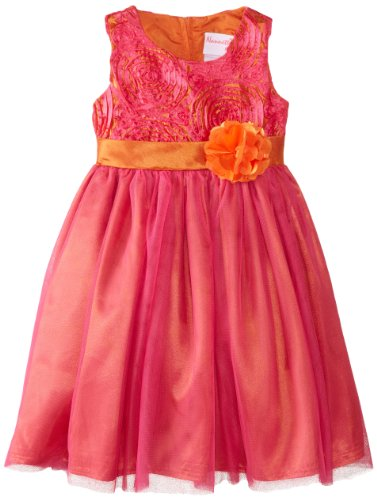 Younghearts Little Girls' Dress With Sash, Rosy Ring, 2T