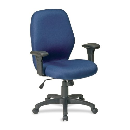 "Lorell  Ergonomic Chair, w/ Arms, 27-1/4""x25-1/2""x41-1/2"", Blue"