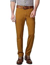 Peter England Khaki Trousers - B01CGMGXPA