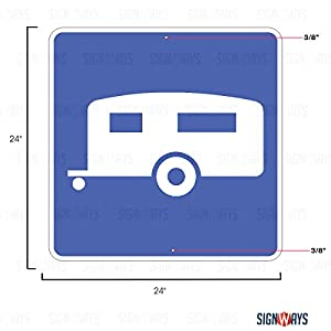D9-3a, Trailer Camping Sign, 24