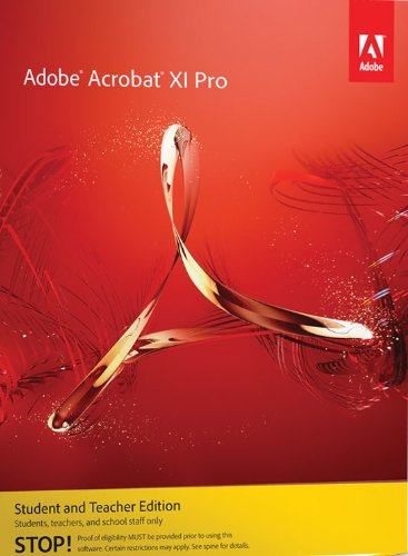 Buy adobe acrobat xi standard student and teacher edition